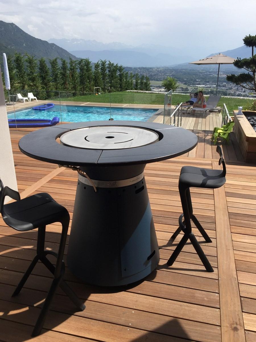 Brasero Plancha Bois Et Gaz Vulx Cuisine Barbecue Concept